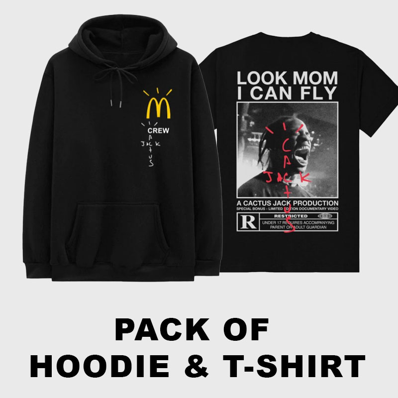 Pack-of-McDonalds-Crew-Hoodie-&-Look-mom-i-can-fly-Shirt